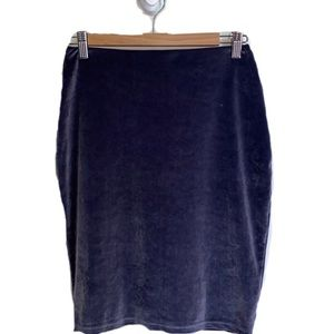 ARITZIA TALULA Purple Velvet Mini Skirt, sz Small